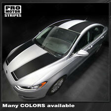 FORD FUSION 2013-2016 Top Side Stripes Hood, Roof & Rear Decals (Choose Color)