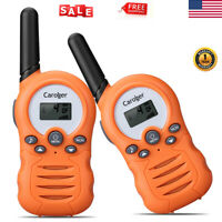 Handheld Walkie Talkie 22 Channel Two Way Radio Interphone Orange 2 Miles Range
