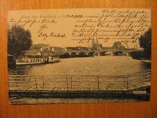 1907 alte AK Gruss aus Frankfurt a.O. An der Löweninsel Dampfer Schiff