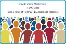 Crowd Funding Master Class, Learn How to raise funds Business Training 4 x DVD's