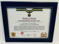 REPUBLIC OF VIETNAM ~ ORDER OF MILITARY MERIT CERTIFICATE ~ WITH FREE PRINTING