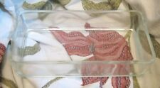 Lovely rectangular glass vessel approx 9½ x 4¾ x 2½ ins dimensions