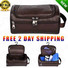 Men Toiletry Travel Bag Shave Kit Leather Organizer Dopp Shaving Accessory  Brown a10e60c215