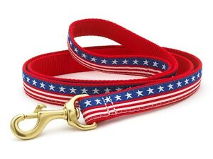 Up Country - Dog Puppy Design Leash - Made In USA - Stars & Stripes - 4, 6 Foot