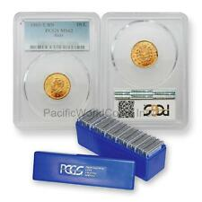 Italy 1863-T BN 10 Lire Gold PCGS MS62 20pc with PCGS Blue Box