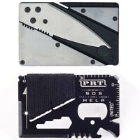 Survival Multi-function 14-1 Tool Credit Card Knife Hiking Camping Emergency