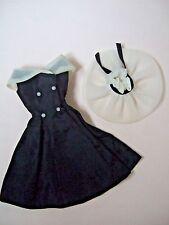 "Vintage BARBIE Clothing ""After five"" #934 Dress and hat"