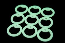50pc Glow In The Dark Silencer Silicone Military Spec Dog Tag/Rubber Silencers