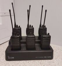 ICOM IC-F25 UHF 4 WATT WALKIE-TALKIE TWO WAY RADIOS SIX PACK WITH MULTI CHARGER