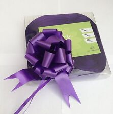 10 x 30mm Purple Pull Bow Ribbon Ideal Wedding Gift Wrap Florist Hampers Baskets