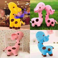 Cute Giraffe Dear Soft Plush Toy Doll Animal Dolls Baby Kid Blue Birthday Party
