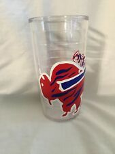 HAND PAINTED BUFFALO BILLS TERVIS TUMBLERS 16 OUNCE SIZE DRINK GLASS CUP