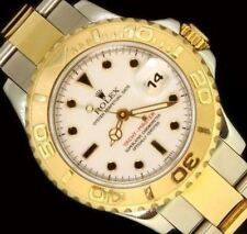 Ladies Rolex SS/18K Yellow Gold White Dial YATCHMASTER