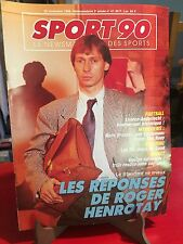Sport 90 - Magazine - N°47, 1989 - Le Standard de Liège, Anderlecht, Henrotay