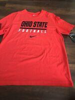 New Nike Mens Ohio State Buckeyes Football Short sleeve Shirt Size Large Red