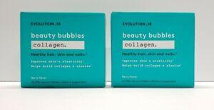 2 Pack Evolution 18 Beauty Bubbles Collagen Berry Flavor 20 Tablets,EXP 6/22