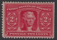 US Stamps - Scott # 324 - 2c Jefferson - Mint OG Hinged                  (H-633)
