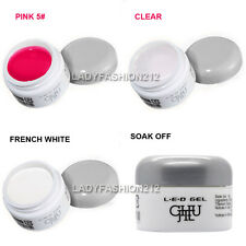 3 PCS 15G High Quality Soak-off Nail Art UV LED Builder Gel Clear Pink White