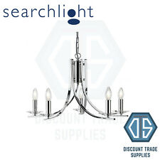 4165-5CC SEARCHLIGHT ASCONA CHROME 5 LIGHT FITTING WITH CLEAR GLASS SCONCES