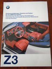 BMW Z3 Roadster accessori e colori BROCHURE 1997 ed 2 TESTO TEDESCO