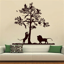 Tree Wall Decals Lion Decal Monkey Safari Landscape Vinyl Sticker Bedroom MN581