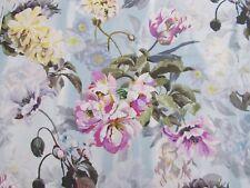 Designers Guild Curtain Fabric 'DELFT FLOWER' 1.6 METRE (160cm) SKY 100% Linen