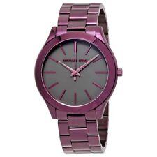Michael Kors Women's Purple Steel Bracelet & Case Quartz Analog Watch MK3551