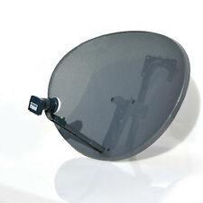 Zone 2  80cm Satellite Dish & Quad LNB For SKY PLUS HD Freesat Hotbird Polsat