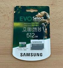 Samsung EVO Select 512 GB microSD 100MB/s, Geschwindigkeit, Full HD & 4K UHD