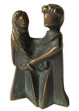 Bronze Figur Skulptur Familie Talisman Nachwuchs unterwegs