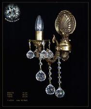 1 flammige Wandlampe aus solidem Metall und echtem Kristall Kein Kunststoff!