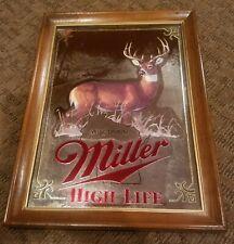 Miller Beer Sign Mirror Wildlife Collection Wisconsin Deer Hunting Bar Pub