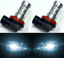 LED 50W H11 White 6000K Two Bulbs Fog Light Replacement Plug Play Show Use
