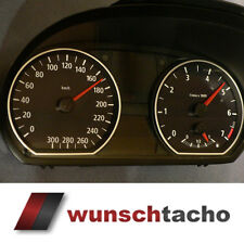 Tachoscheibe für Tacho BMW 1er E81-E82-E87-E88 Schwarz 300 Km/h