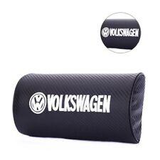 Two Carbon Fibre Looking Seat Pillow Pads For VW Golf 6 Golf 7 Tiguan Touareg R