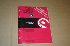 Jd John Deere belt pickups platforms Operators Manual