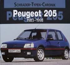 LIVRE/BOOK : PEUGEOT 205  1983 - 1998 (voiture de collection,cabrio,gti