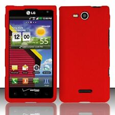 Hard Rubberized Case for LG Lucid 4G - Red