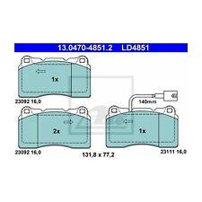 ATE LD4851 Bremsbelagsatz, Scheibenbremse ATE Ceramic  13.0470-4851.2  Vorne