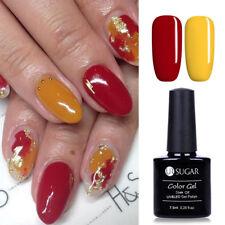 2pcs 7.5ml Red & Yellow Uv Led Gel Polish Nail Art Soak Off Gel Varnish Ur Sugar