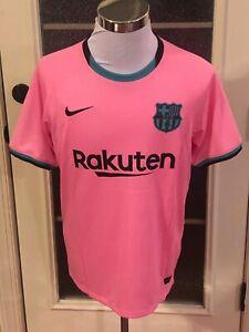FC Barcelona #10 Lionel Messi Pink & Black Nike Third Jersey