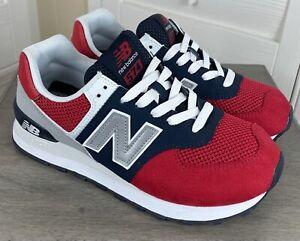 New Balance 574 Classics Team Red Pigment Sneakers - WL574SRF - Women's Size 7