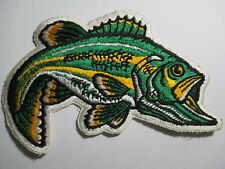 Bass Fishing Patch. Vintage, Original, NOS  RARE 6 1/4 X  4 INCHES