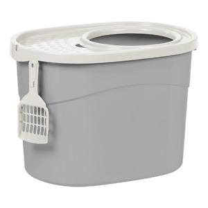 IRIS Top Entry Cat Litter Box, The perfect way to prevent litter scatter