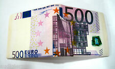 New 500 Euros Currency Canvas Wallet