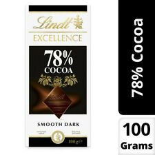 Lindt Excellence 78% Cocoa Dark Chocolate Bar 100g