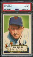 1952 Topps BB Card #125 Bill Rigney New York Giants PSA EX-MT 6 !!!