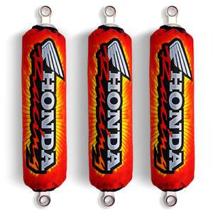 Red Shock Covers Honda Racing TRX 250 TRX 300 TRX 400 EX TRX400 X (Set of 3)