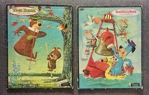 Two Vintage Children's Whitman Hanna-Barbera Cartoon Huckleberry Hound Yogi Bear