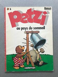 PETZI  Au pays du sommeil  n°  6  HANSEN 1986 casterman